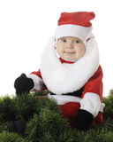 Happy Baby Santa Stock Photo