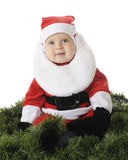 Happy Baby Santa Stock Image