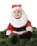 Happy Baby Santa stock image