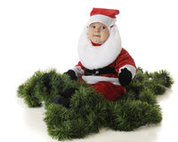 Happy Baby Santa stock images