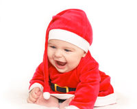 Happy baby Santa Claus Stock Photography