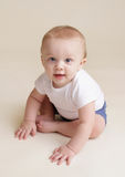 Happy Baby Sitting Royalty Free Stock Photo