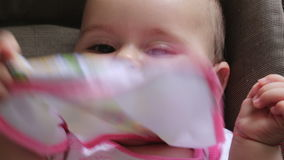 Happy Baby Smiling stock footage