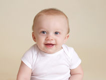 Happy Baby Smiling and Laughing Stock Image