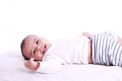 Happy Baby smiling Stock Image