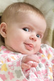 Happy Baby Sticking Tongue Out Royalty Free Stock Photography