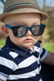 Happy Baby With Sunglasses Stock Image