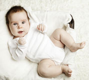 Happy baby, top view Stock Image