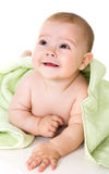 Happy baby with towel Royalty Free Stock Photography