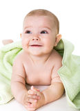 Happy baby with towel Stock Photography