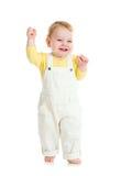 Happy baby walking studio shot Royalty Free Stock Image