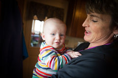 Happy Baby and Woman Stock Photo