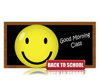 Happy Back to School. Back to School with happy face Royalty Free Stock Image