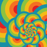 Happy background. With colorful circles Royalty Free Stock Photography