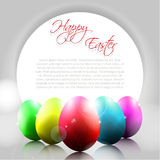 Vector Happy Background with Color Eggs Royalty Free Stock Photos