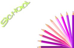 Happy background with colored pencils Royalty Free Stock Images