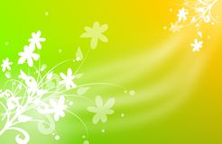 Happy background with floral ornaments Royalty Free Stock Photos