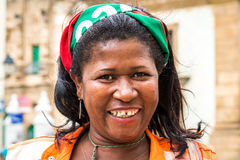 Happy baiana woman in Salvador, Bahia Stock Image