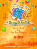 Happy Baisakhi background Stock Image