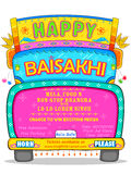 Happy Baisakhi background Stock Photos