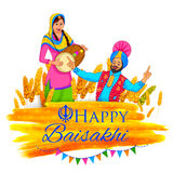Happy Baisakhi background Stock Photography