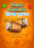 Happy Baisakhi background. Illustration of Punjabi New Year Happy Baisakhi background Stock Photography