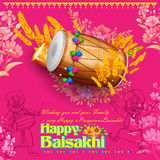 Happy Baisakhi background Stock Images