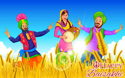 Happy Baisakhi background Royalty Free Stock Photo