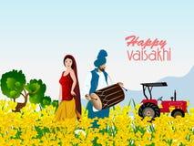 Happy Baisakhi Stock Images