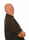 Happy Bald Casual Man Stock Photos