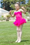 Happy ballerina Stock Photos