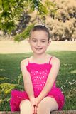 Happy ballerina Stock Image
