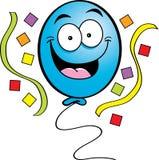 Happy Balloon. Cartoon illustration of a happy balloon with streamers Stock Photos