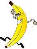 Happy banana. Isolated on white Stock Photos
