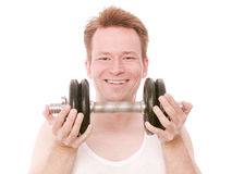 Happy barbell Stock Photography