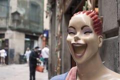 Happy Barcelona stock photo