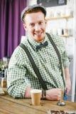 Happy barista Stock Photos