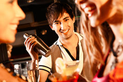 Happy barman Royalty Free Stock Images