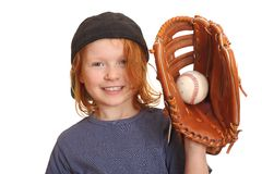 Happy baseball girl Stock Image