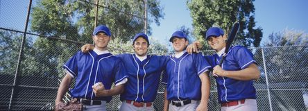 Happy Baseball Player Stock Photography