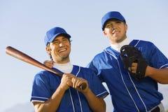 Happy Baseball Players Royalty Free Stock Photography