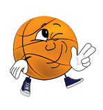 Happy Basketball ball cartoon Stock Photos