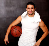 Happy basketball player Royalty Free Stock Photography