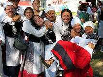 Happy Basque Women Stock Photography