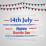 Happy Bastille Day Background. Illustration of elements of Bastille Day celebrated as France national day on 14th of July royalty free illustration