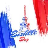 Happy Bastille Day celebration background. Eiffel Tower in national color ,Happy Bastille Day Celebration Concept Royalty Free Stock Images