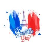 Happy Bastille Day celebration background. Happy Bastille Day celebration concept with Eiffel Tower Royalty Free Stock Photography