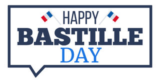 Happy Bastille Day Royalty Free Stock Photography