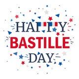 Happy Bastille Day. Celebration Banner. France Independence Greeting. Vector vector illustration