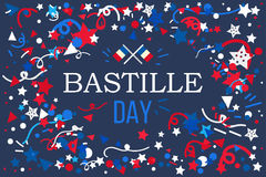 Happy Bastille Day. Celebration Banner. France Independence Greeting. Vector royalty free illustration